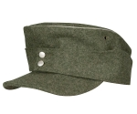 M43 Waffen SS Army Officers Field Cap, Wool - Reddick Militaria