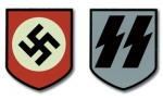 WW2 German Helmet Decals - Early SS (pair)