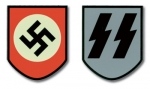 WW2 German Helmet Decals -Late SS Decal (pair)