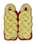 WW2 German Shoulder Boards:  General- Army (red underlay) - Reddick Militaria