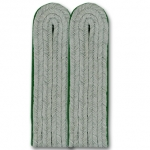 WW2 German Officers Shoulder Boards - Mountain Troops (Med. Green) - Reddick Militaria
