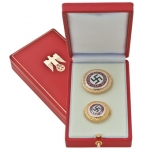 Golden Party Badge Official Presentaion Cased Set - Reddick Militaria
