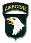 US 101st Airborne Patch w/tab,WWII type. - Reddick Militaria