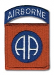 US 82nd Airborne Patch w/tab,WWII type. - Reddick Militaria