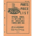 Ford GP Master Parts List - TM 1100 - Reddick Militaria