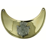 Gorget - Brass w/Nickel Silver Cypher