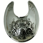 Gorget - Nickel Silver w/Engraved Crest