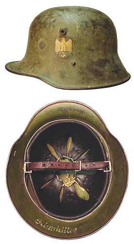 German Helmet Shell and Liner Sizes