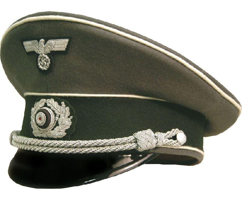 37467e96f73 German Army Infantry Officer Visor Cap - Reddick Militaria ...