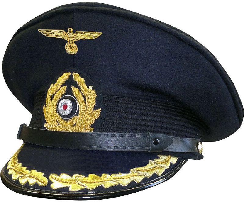 d624c892daef5 German WWII Kriegsmarine Captain s Visor Cap - Reddick Militaria