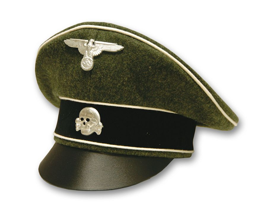 German Waffen SS Officer Crusher Hat - Reddick Militaria ccd10731c33