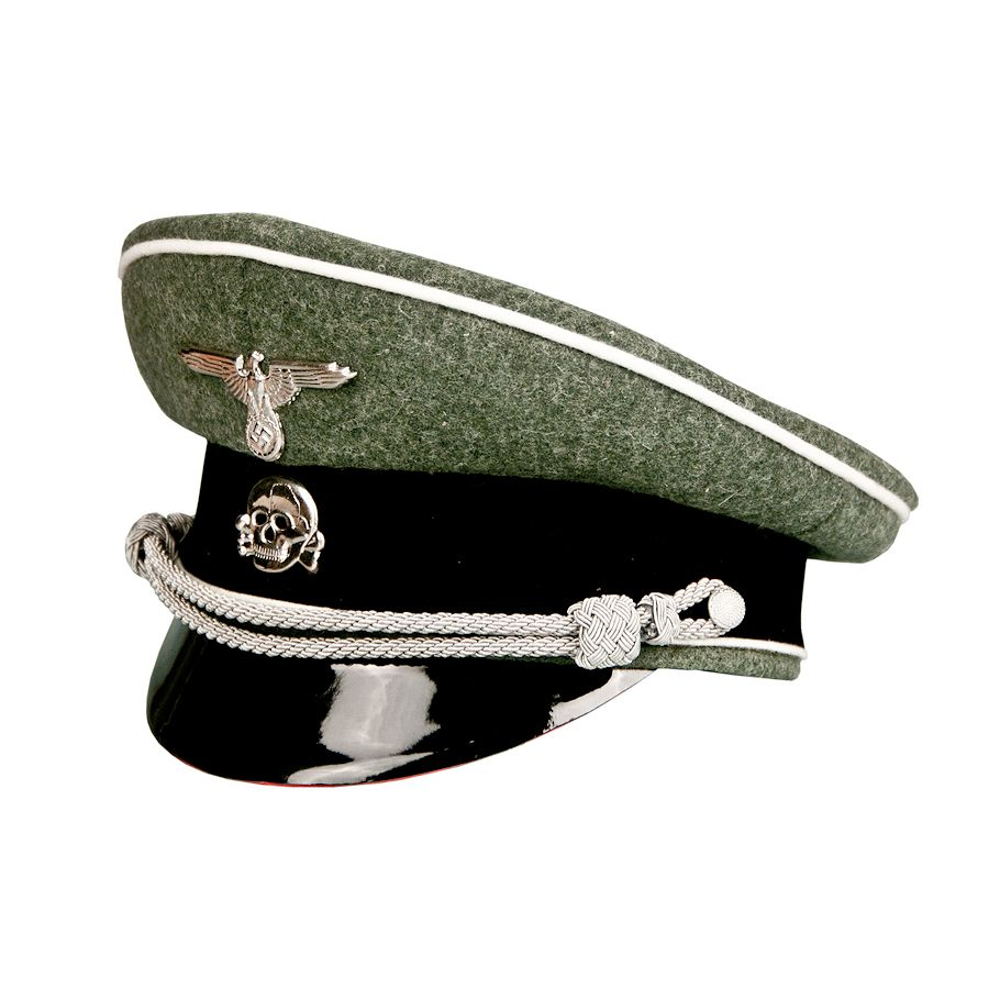 a2386b11552af German World War 2 Waffen SS Infantry Officers Visor Caps - Economy: Third  Reich & U.S. Military Decorations, Medals, Badges, Ribbons, Books & more