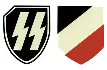 WW2 German Helmet Decals - SS-LAH (pair)