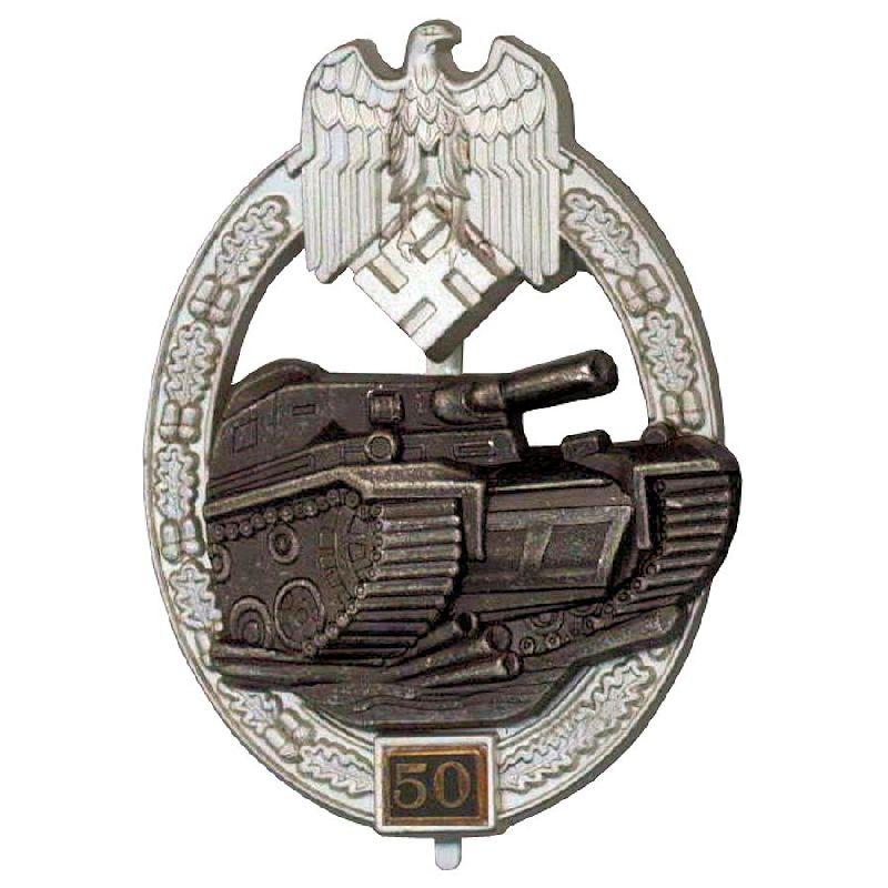 German Ww2 Panzer Assault Badge 50 Engagements