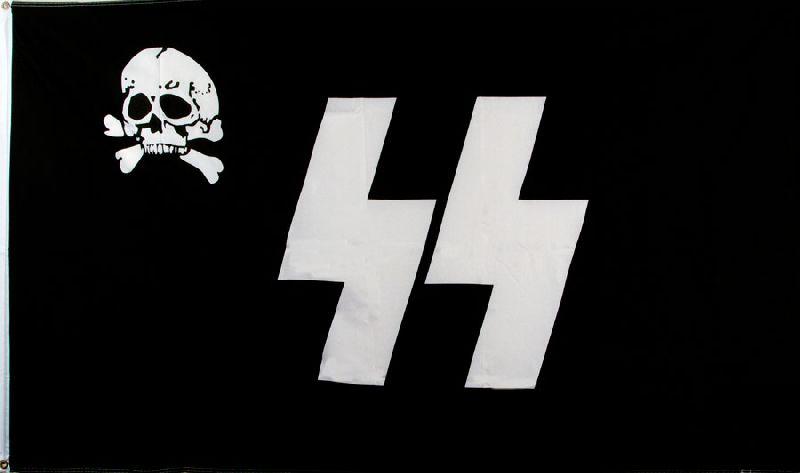 SS Skull Flag - 3' x 5'