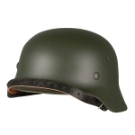 WWII M40 German Combat Helmet, Green
