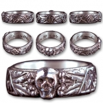 SS TOTENKOPF (HONOR) RING - HIGH GRADE - STERLING SILVER
