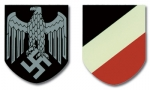 WW2 German Helmet Decals - Army (pair)