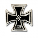 1939 Iron Cross 1st Class Stickpin, silver finish/blackened - Reddick Militaria