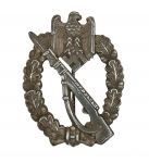 German WW2 Infantry Assault Badge, Late War Production, solid back, Museum Quality Reproduction
