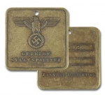 SS Gestapo - Central Inspektion ID Discs - Reddick Militaria
