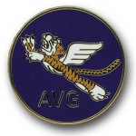 Flying Tigers AVG Round Enamel Pin - Reddick Militaria