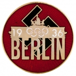 1936 Summer Olympics in Berlin Enamel Lapel Pin