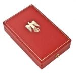 Golden Party Badge Standard Presentation Case