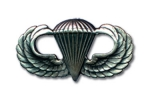 US Parachute Jump Wing - Silver Plated