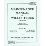 Maintenance Manual -  Willys MB- TM 10-1513 - Reddick Militaria