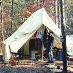 Civil War Wall Tents - Sunforger/Fire Retardant