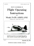 Pilot's Handbook of Flight Operating Instructions for Model P-47B Airplane - Reddick Militaria