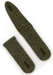 Old Stock German Made Shoulder Boards - Army Infantry - Field Grey, White Piping - Reddick Militaria