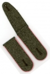 Old Stock German Made Shoulder Boards - Army Assault Gunner - Field Grey, Pink Piping - Reddick Militaria