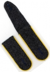 Old Stock German Made Shoulder Boards - Luftwaffe Flight - Grey, Golden Yellow Piping - Reddick Militaria