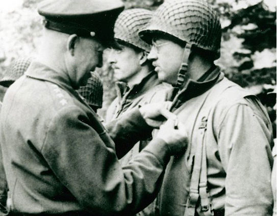 General Eisenhower issues an award, July 2, 1944